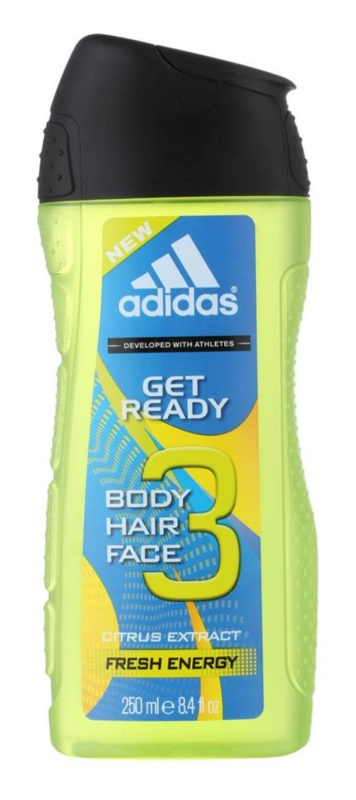 Adidas Get Ready! Shower Gel for Men 250 ml 2in1