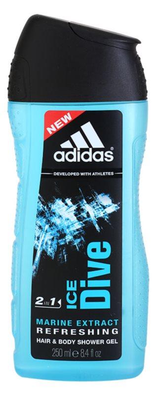 Adidas Ice Dive żel pod prysznic dla mężczyzn 250 ml