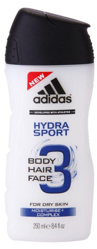 Adidas 3 Hydra Sport gel de ducha para hombre 250 ml