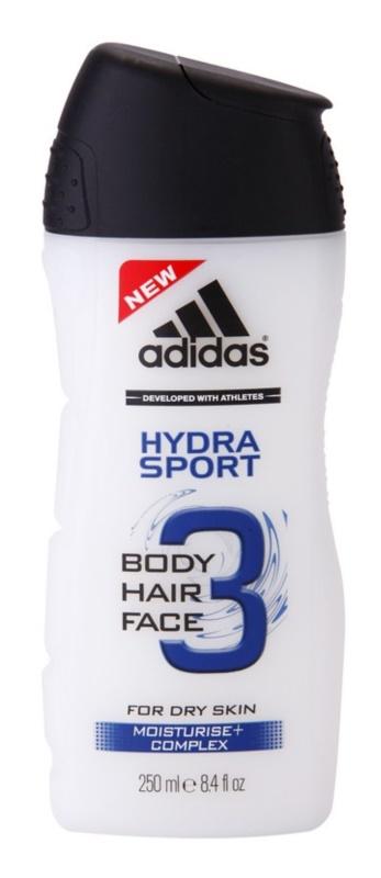 Adidas 3 Hydra Sport gel douche pour homme 250 ml