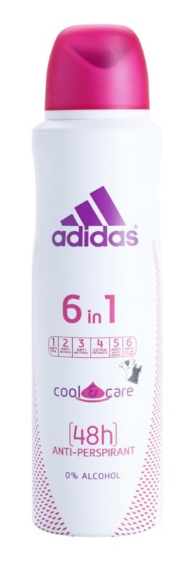 Adidas 6 in 1  Cool & Care deospray pro ženy 150 ml