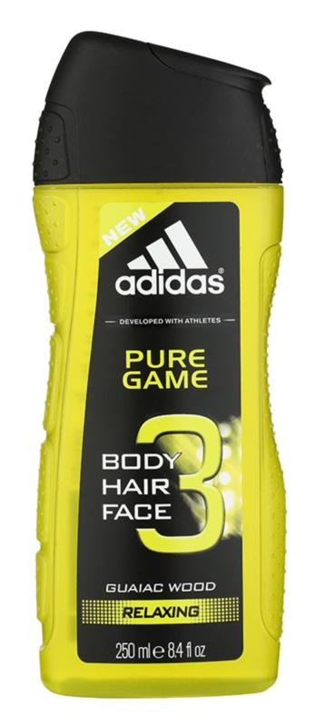 Adidas 3 in 1 Pure Game Shower Gel for Men 250 ml