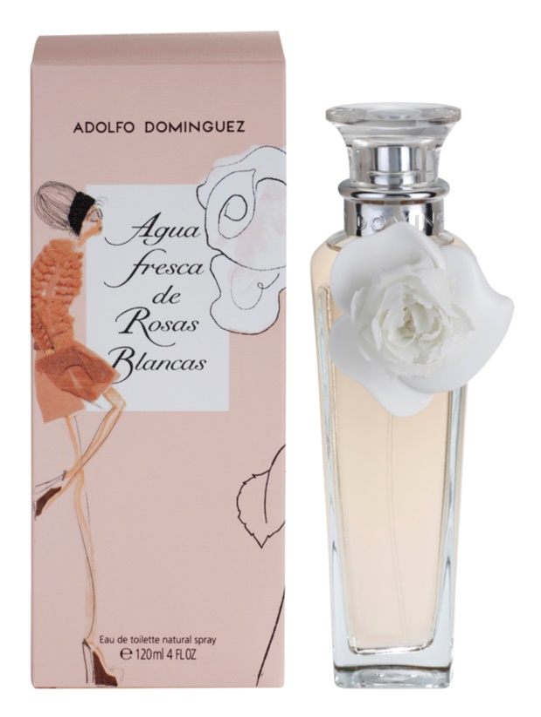 Adolfo Dominguez Agua Fresca de Rosas Blancas eau de toilette per donna 120 ml