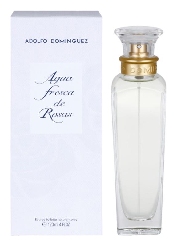Adolfo Dominguez Agua Fresca de Rosas Eau de Toilette voor Vrouwen  120 ml