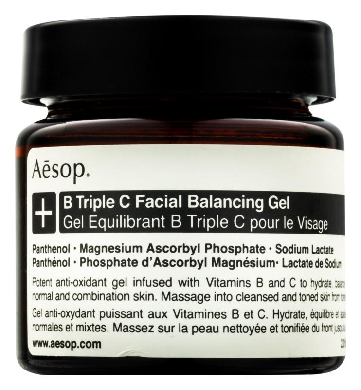 Aēsop B Triple C Facila Balancing Gel antioksidantni gel za obraz z vitamini