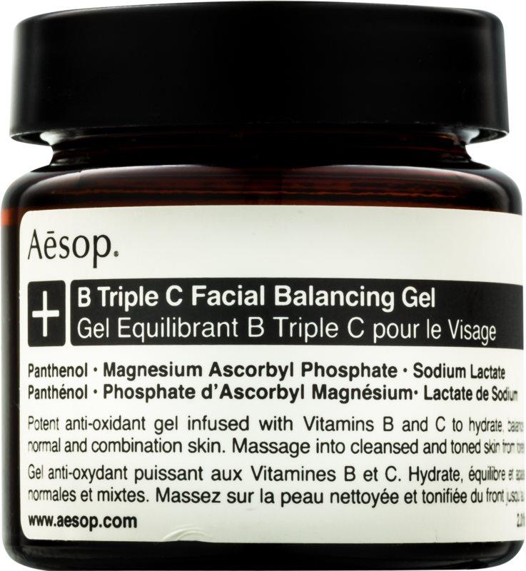 Aésop B Triple C Facila Balancing Gel antioxidačný pleťový gél s vitamínmi
