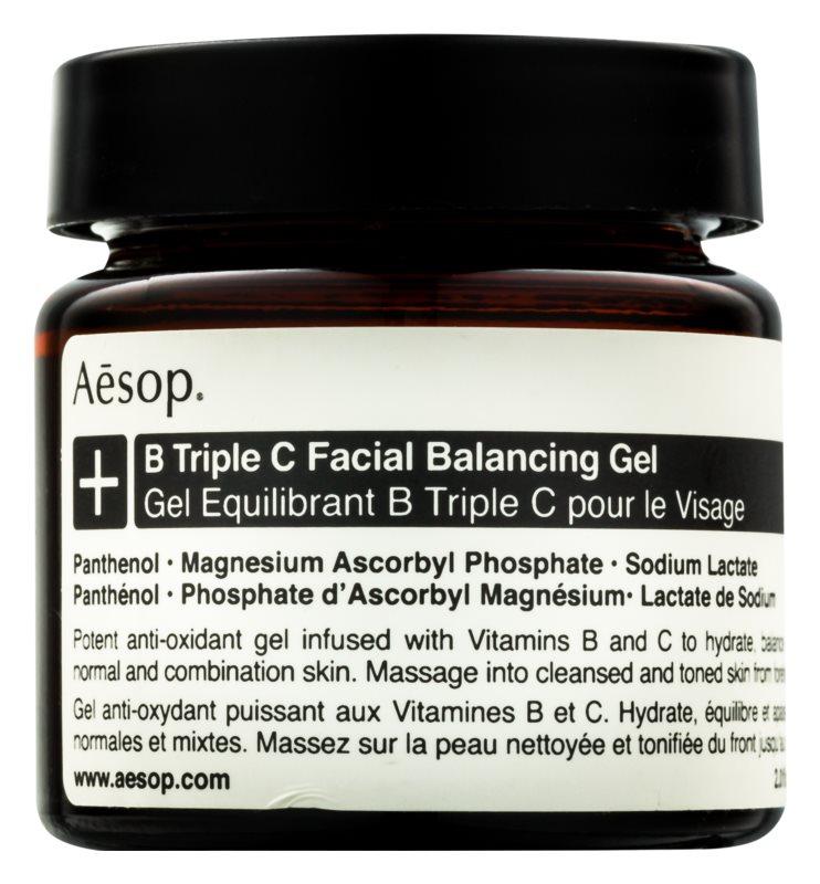 Aésop B Triple C Facila Balancing Gel gel antioxydant visage aux vitamines
