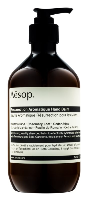 Aésop Body Resurrection Aromatique baume hydratant en profondeur mains