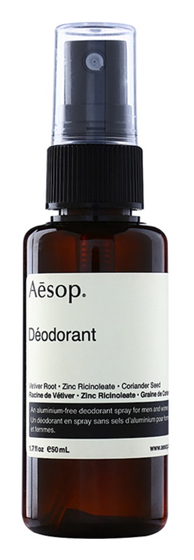 Aésop Body Deodorant Spray Without Aluminum Content