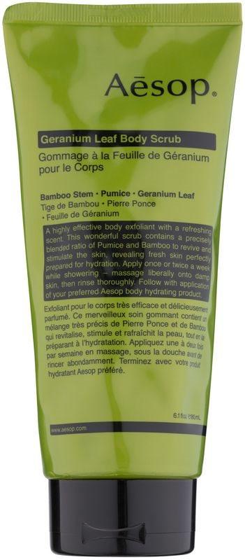 Aésop Body Geranium Leaf Body Scrub