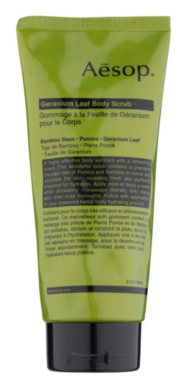 Aésop Body Geranium Leaf peeling corporal
