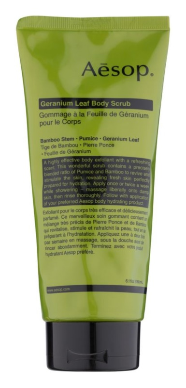Aésop Body Geranium Leaf testpeeling