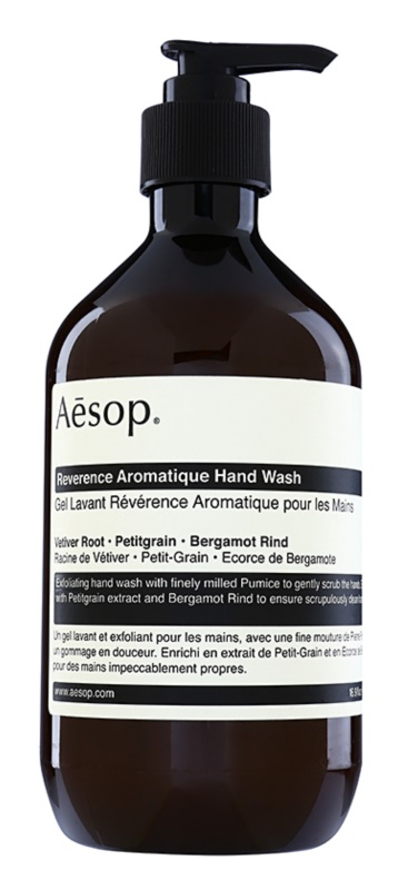 Aēsop Body Reverence Aromatique bőrhámlasztó folyékony szappan kézre