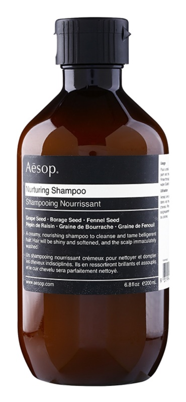 Aésop Hair Nurturing tápláló sampon a rakoncátlan hajra