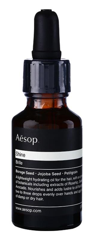 Aésop Hair Shine olejek nawilżający do włosów suchych, trudno poddających się stylizacji