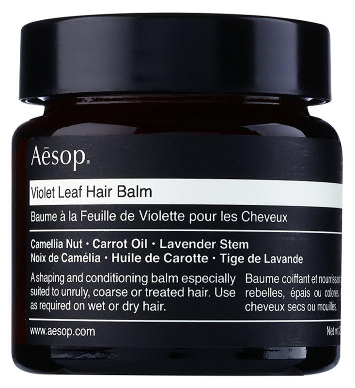 Aēsop Hair Violet Leaf tvarujúci balzam pre nepoddajné a krepovité vlasy