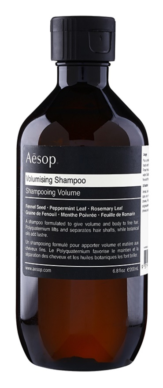 Aésop Hair Volumising sampon a dús hajért a finom hajért
