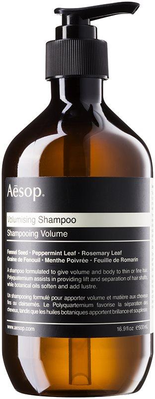 Aēsop Hair Volumising sampon a dús hajért a finom hajért