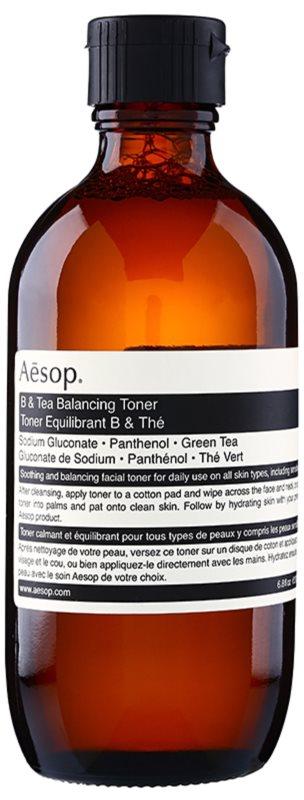Aēsop Skin B & Tea gyengéd tisztító tonik minden bőrtípusra, beleértve az érzékeny bőrt is