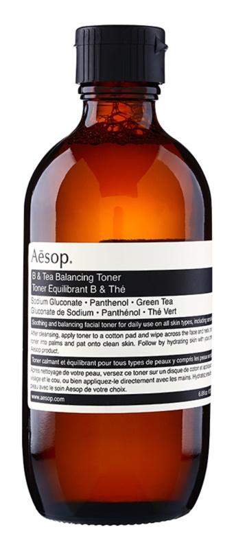 Aēsop Skin B & Tea lotion tonique douce nettoyante pour tous types de peau, y compris peau sensible