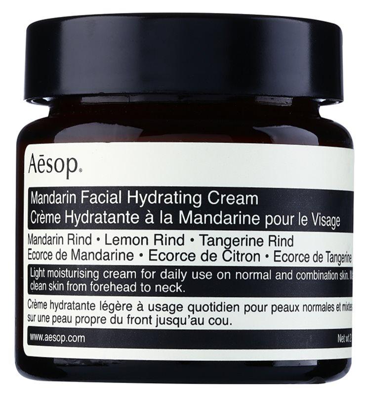 Aēsop Skin Mandarin könnyű hidratáló nappali krém normál és kombinált bőrre