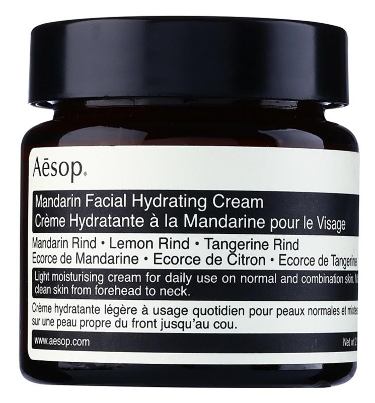 Aēsop Skin Mandarin leichte feuchtigkeitsspendende Tagescreme für normale Haut und Mischhaut
