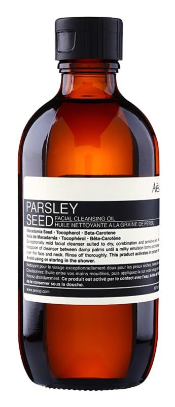 Aésop Skin Parsley Seed Zachte Reinigingsolie voor Droge tot Gevoelige Huid