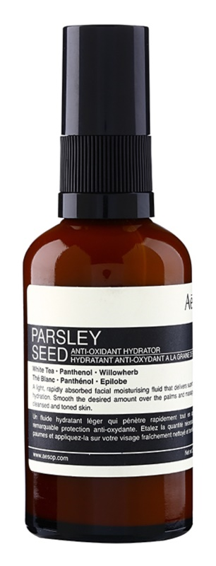Aésop Skin Parsley Seed hidratáló fluid normál és száraz bőrre