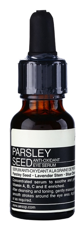 Aēsop Skin Parsley Seed Antioxidanten Serum voor Oogcontouren