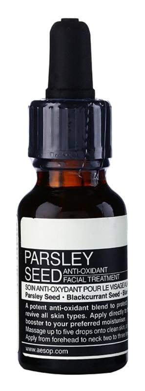 Aésop Skin Parsley Seed sérum antioxydant pour tous types de peau