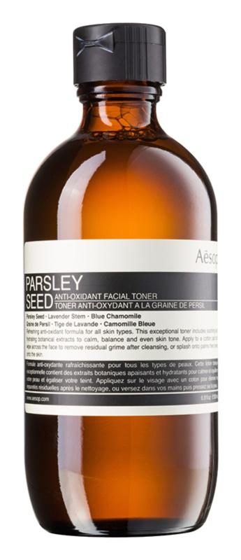 Aésop Skin Parsley Seed lotion tonique antioxydante pour tous types de peau