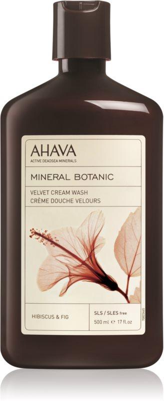 Ahava Mineral Botanic Hibiscus & Fig žametna krema za prhanje