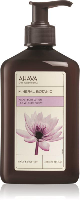 Ahava Mineral Botanic Lotus & Chestnut sametové tělové mléko