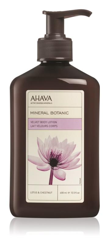 Ahava Mineral Botanic Lotus & Chestnut zamatové telové mlieko
