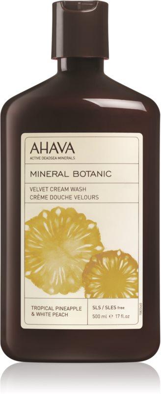 Ahava Mineral Botanic Tropical Pineapple & White Peach zamatový sprchový krém