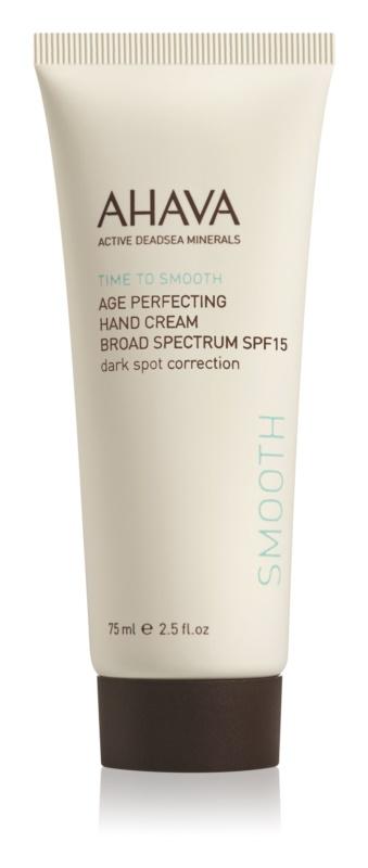 Ahava Time To Smooth pomlađujuća krema za ruke protiv pigmentnih mrlja SPF 15