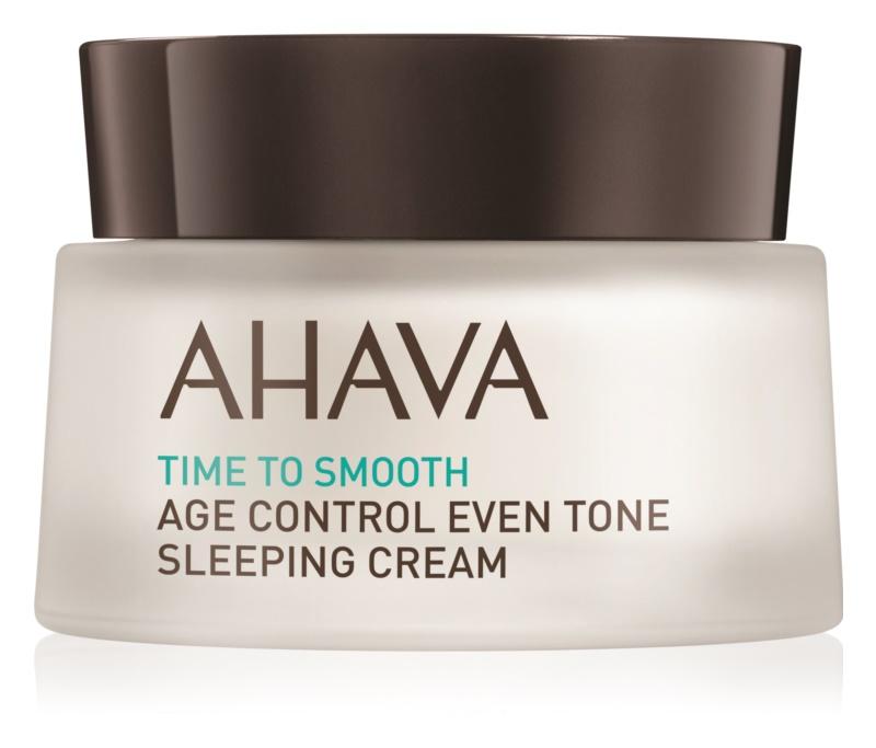 Ahava Time To Smooth posvetlitvena nočna krema proti prvim znakom staranja kože