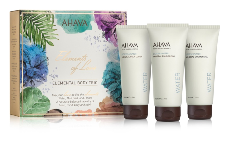 Ahava Dead Sea Water Elemental Body Trio kozmetični set I.