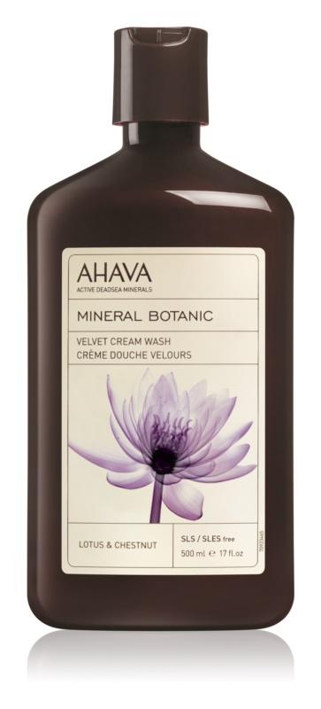 Ahava Mineral Botanic Lotus & Chestnut sametový sprchový krém