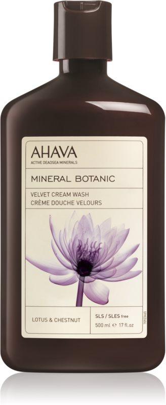 Ahava Mineral Botanic Lotus & Chestnut zamatový sprchový krém