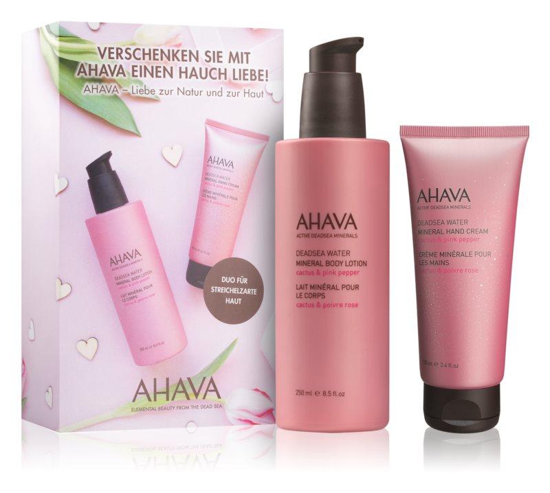 Ahava Dead Sea Water Cactus & Pink Pepper zestaw kosmetyków I.