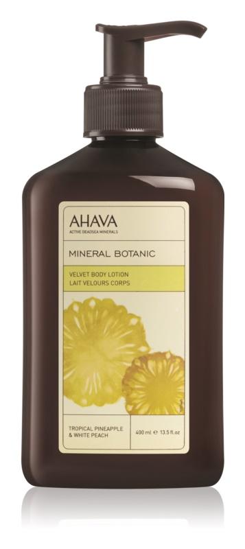 Ahava Mineral Botanic Tropical Pineapple & White Peach sametové tělové mléko