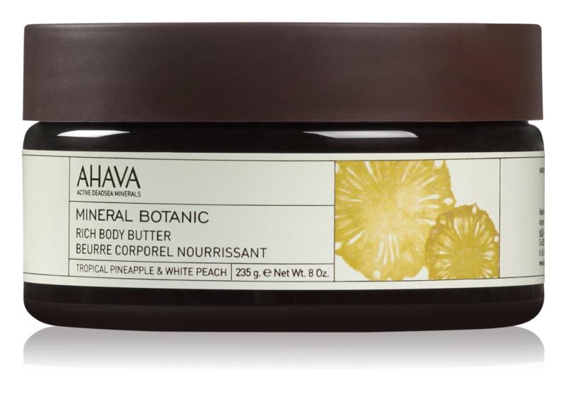 Ahava Mineral Botanic Tropical Pineapple & White Peach vyživující tělové máslo