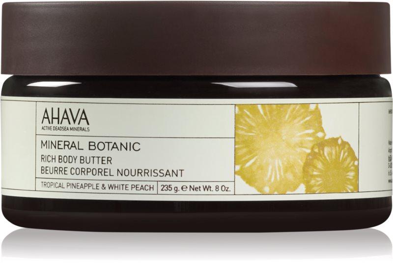 Ahava Mineral Botanic Tropical Pineapple & White Peach vyživujúce telové maslo