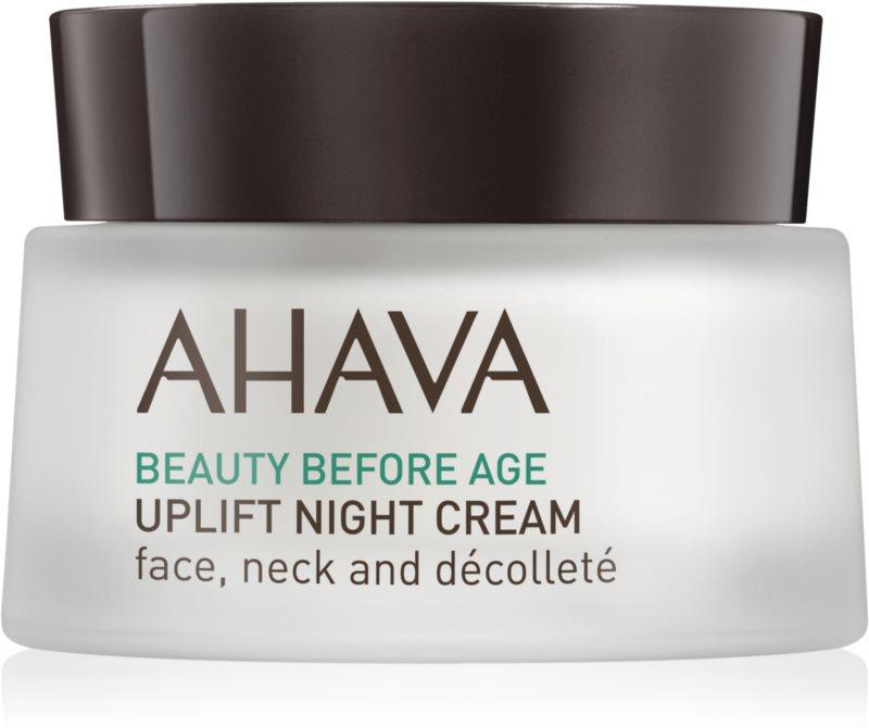 Ahava Beauty Before Age nočný liftingový vypínací krém na tvár, krk a dekolt