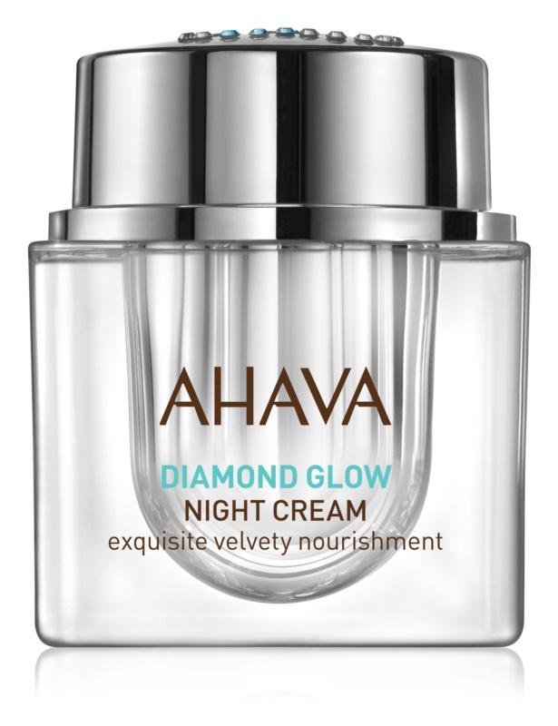 Ahava Diamond Glow luxuriöse Nachtcreme mit reinem Diamantstaub gegen Hautalterung
