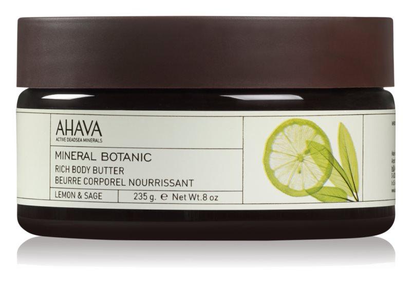 Ahava Mineral Botanic Lemon & Sage vyživujúce telové maslo