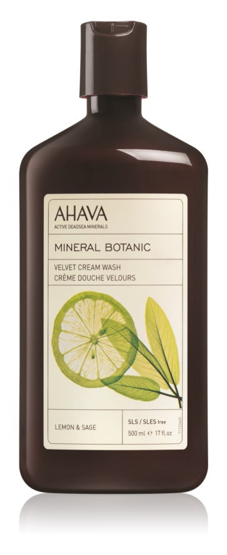 Ahava Mineral Botanic Lemon & Sage łagodny krem pod prysznic