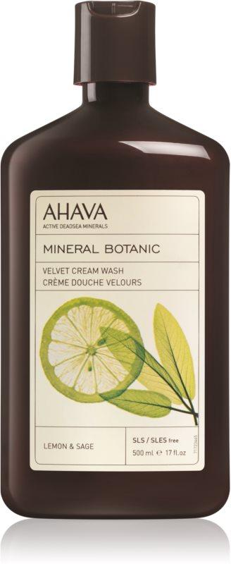 Ahava Mineral Botanic Lemon & Sage nežna krema za prhanje