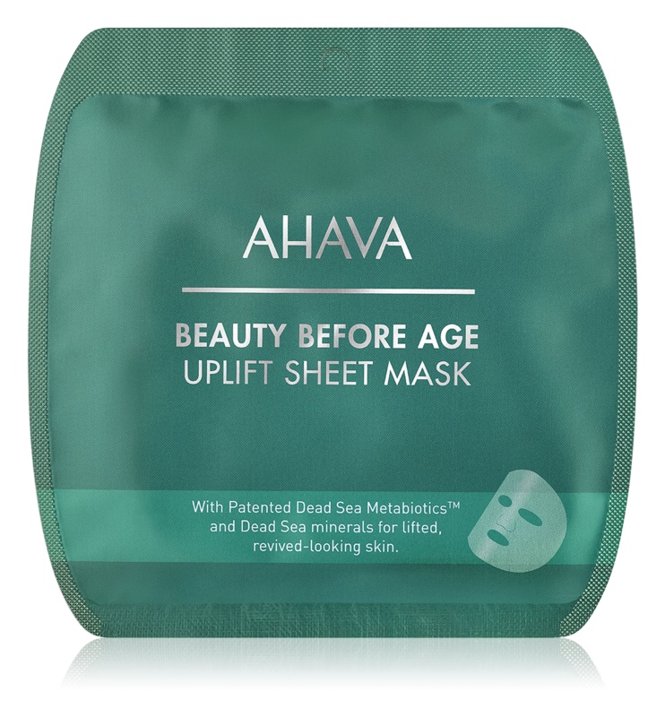 Ahava Beauty Before Age glättende Stoffmaske mit Lifting-Effekt